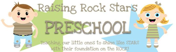 Raising Rock Stars Preschool Curriculum - Great way to incorporate bible with your Pre-k