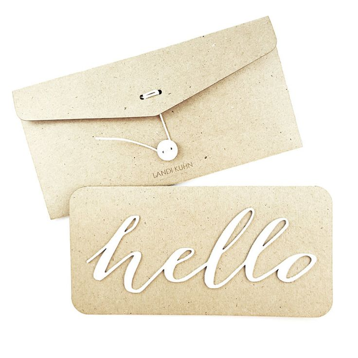 blank card /HELLO/ white by LANDI KUHN Functional Art & Design
