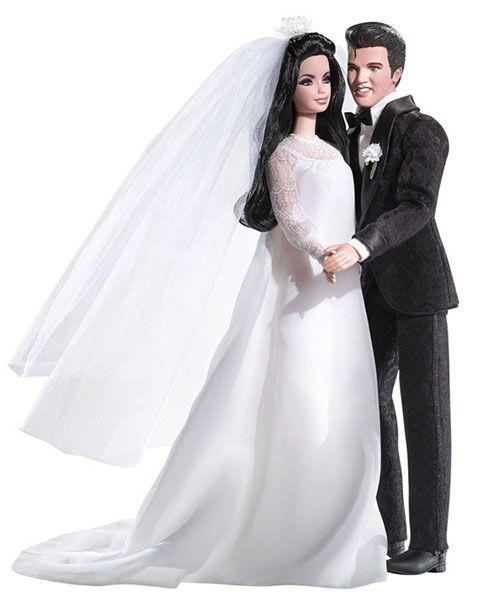 Wedding-day Barbies: Elvis and Priscilla Presley Barbies (2008)