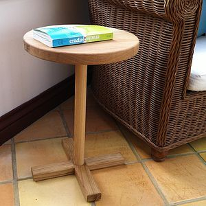 O's And X's Oak Side Table