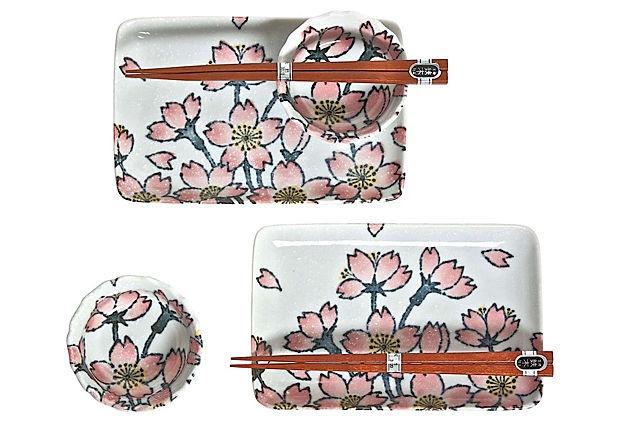 Pink Sakura Sushi Set For Two on OneKingsLane.com