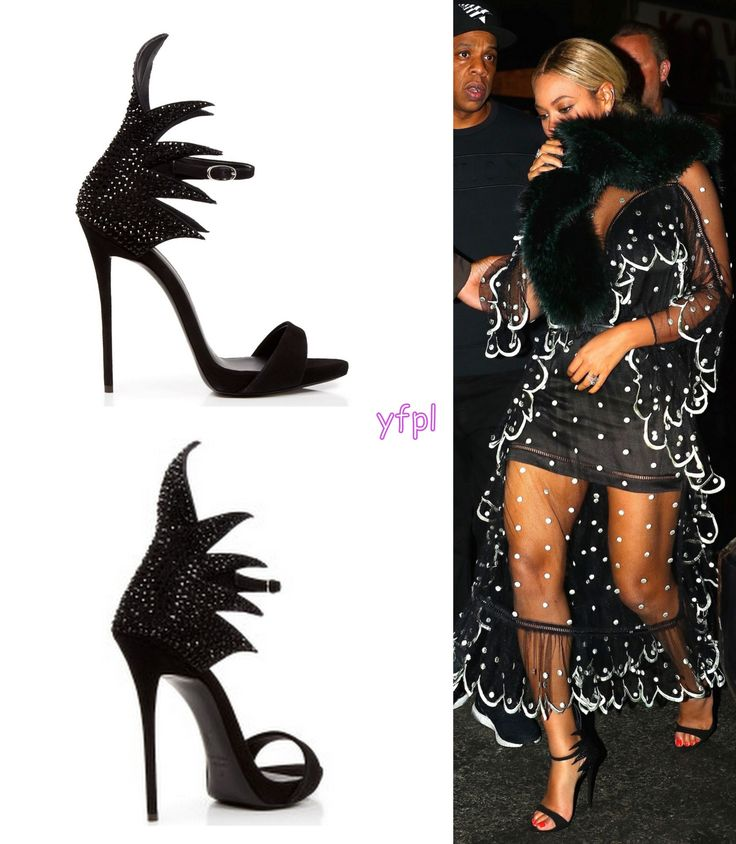 Beyoncé wore GIUSEPPE ZANOTTI Coline Jeweled Back High Heels $1,425 at Saturday Night Live in New York 5th November    2016