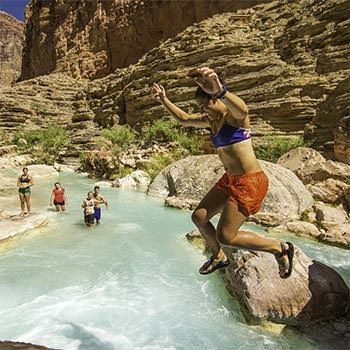 Havasu Creek -- best way to view the Grand Canyon. swim, cayak, or paddle board!