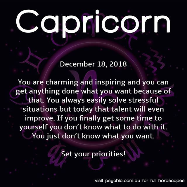 december 18 horoscope capricorn or capricorn