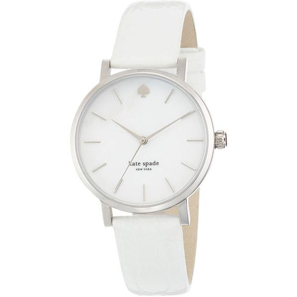 Women's kate spade new york 'metro' embossed leather strap watch, 34mm (220 CAD) ❤ liked on Polyvore