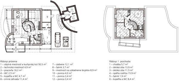 Pôdorys 1. poschodia 1 chodba