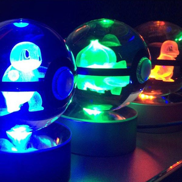 Pokemon LED Crystal Pokeball Shut Up And Take My Yen : Anime & Gaming Merchandise