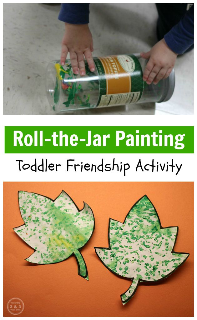 Easy Toddler Friendship Art - Teaching 2 and 3 Year Olds