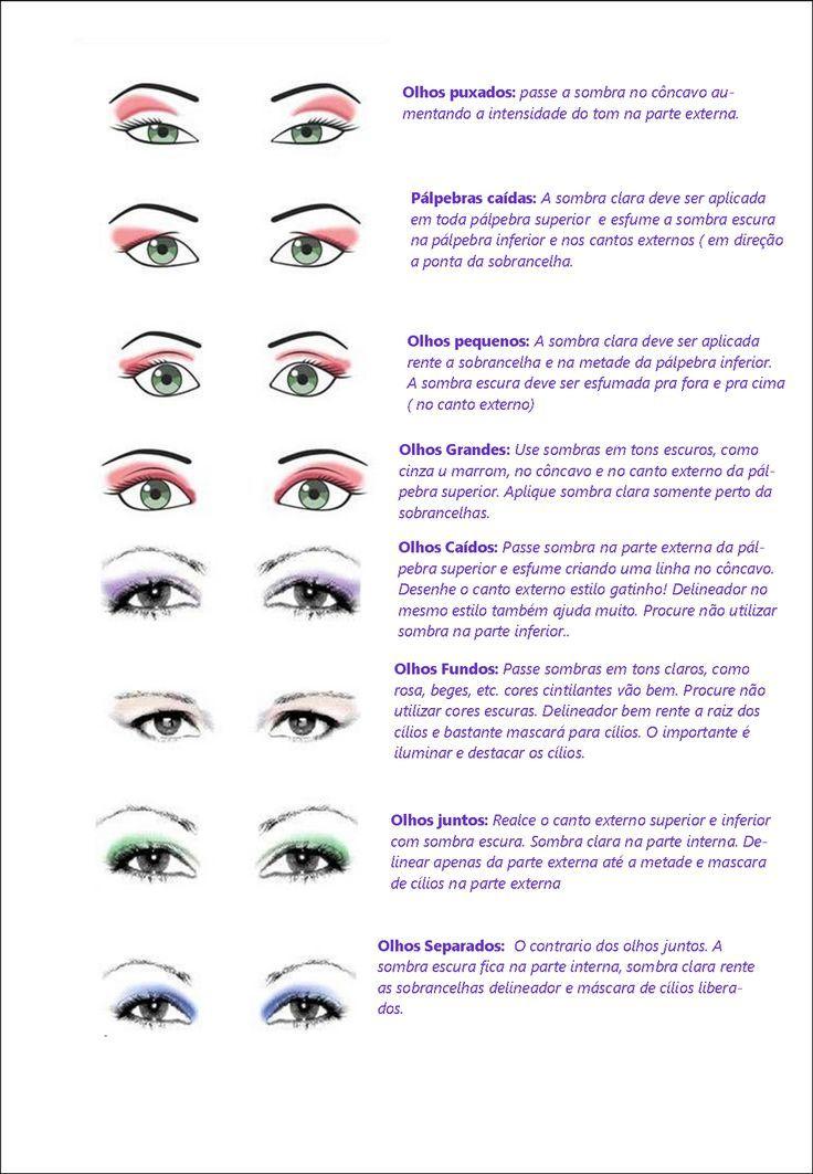 Resultado de imagem para cores de sombras para olhos castanhos