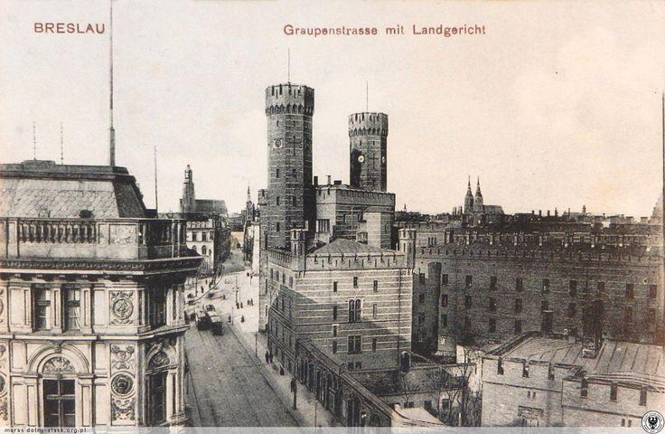Ulica Sądowa, widok w kierunku ul. Krupniczej. Lata 1900-1907
