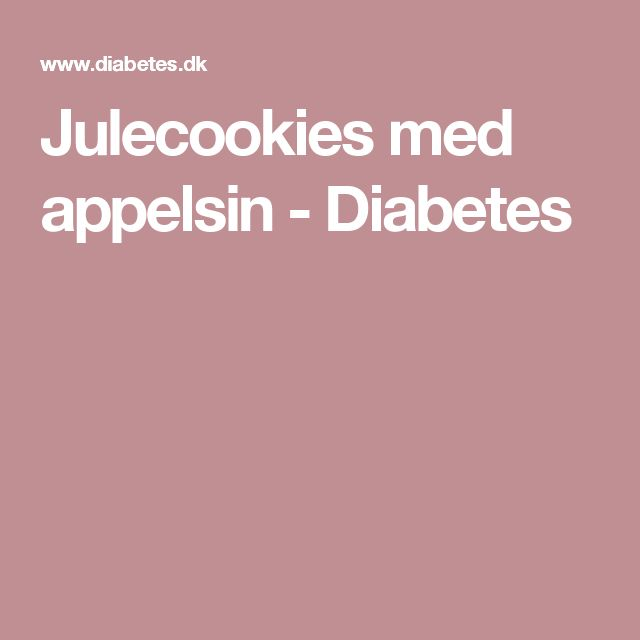 Julecookies med appelsin - Diabetes