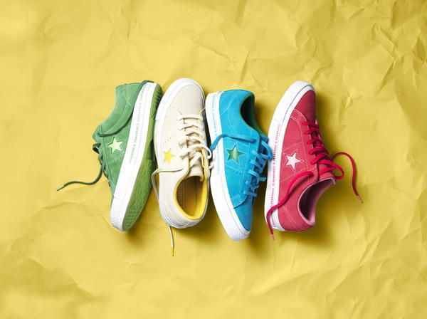 The Converse One Star Spring 2018 Collection launches February 1 on converse.com and at Converse stores and global retailers.