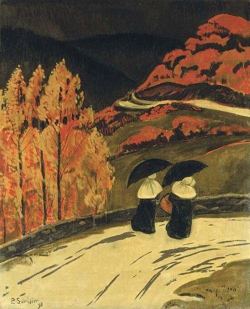 La pluie sur la route, Paul Serusier. (1863 - 1927)