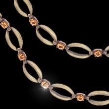 """""""Love me Slender""""  $29.99 CAD - This elegant chain bracelet is finished in antique copper with links connected by topaz coloured Swarovski crystals. 7"""" chain with 2"""" extension. Nickel and lead free. the matching necklace is a must."""