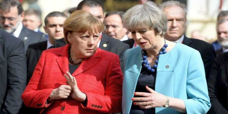 """Top News: """"UK POLITICS: Theresa May Accuses 27 EU Countries of Ganging Up Against UK Over Brexit"""" - http://politicoscope.com/wp-content/uploads/2017/04/Angela-Merkel-and-Theresa-May-Germany-and-UK-Politics-News.jpg - """"Our opponents are already seeking to disrupt those negotiations -- at the same time as 27 other European countries line up to oppose us,"""" Theresa May says.  on World Political News - http://politicoscope.com/2017/04/28/uk-politics-theresa-may-accuses-27-eu-count"""