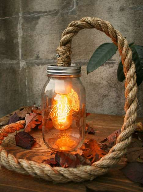 Rustic Jar Lighting - Luke Lamp Co. Creates Light Fixtures That are Full of Character (GALLERY)