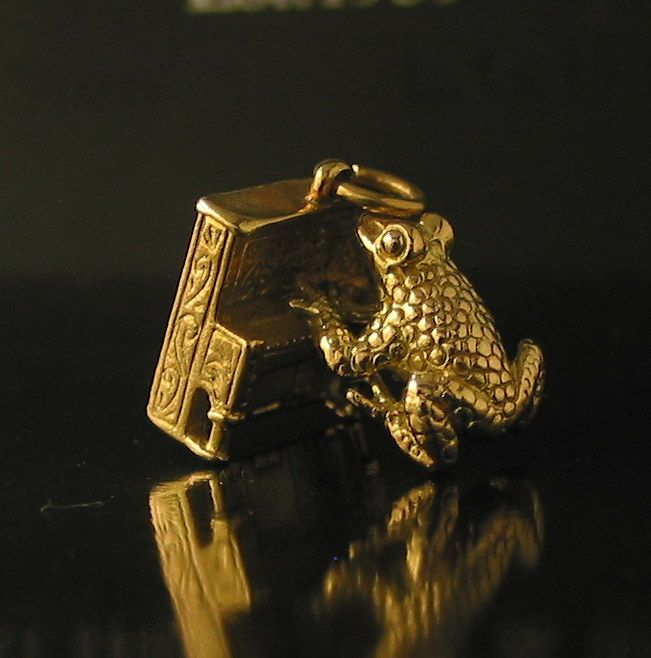 And my favourite the Large Frog playing the piano in 9ct Yellow Gold made in Birmingham in 1964 - sold