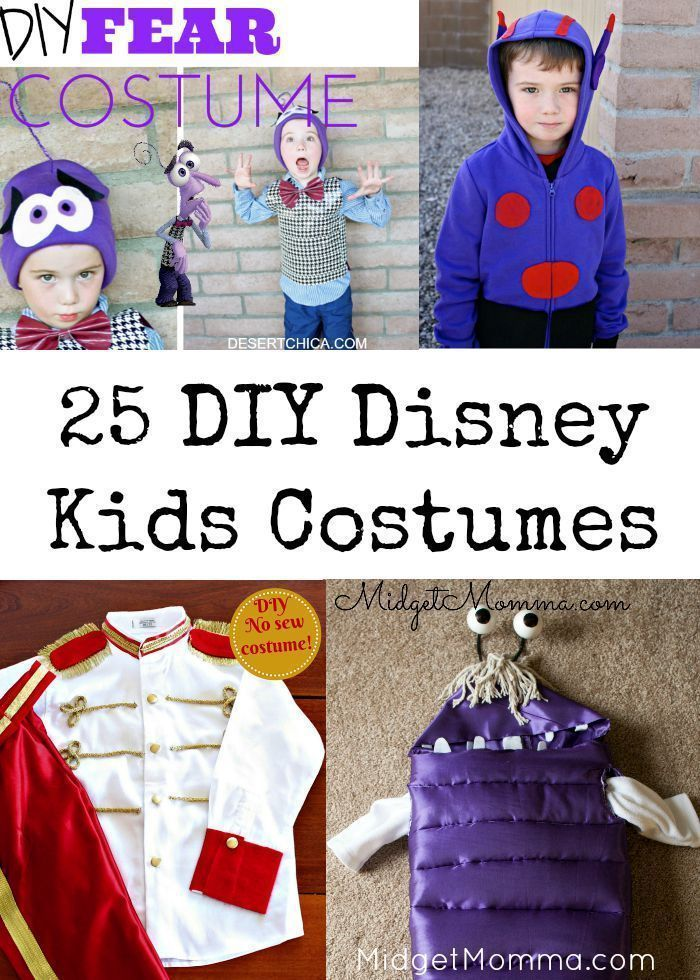 DIY Kids Disney Costumes. 25 Fairly simply DIY DIsney Character Halloween costumes! Save money and give the kids their perfect Halloween costume with this list of DIY Disney Character Halloween costumes