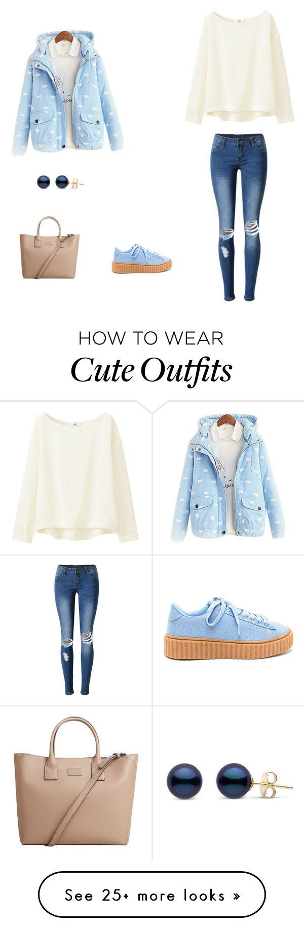 """Puffer jacket outfit"" by gabyprod on Polyvore featuring WithChic, Uniqlo and MANGO"