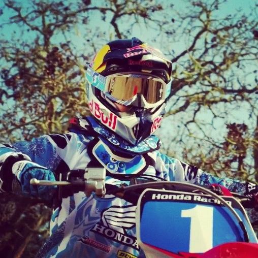 I want to meet Ashley Fiolek, a deaf motocross racer.