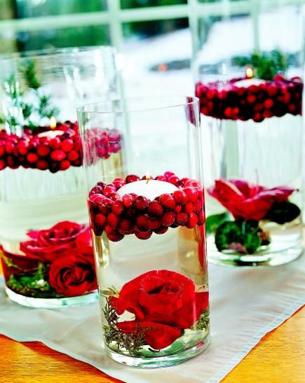 Images about decorating with cranberries on