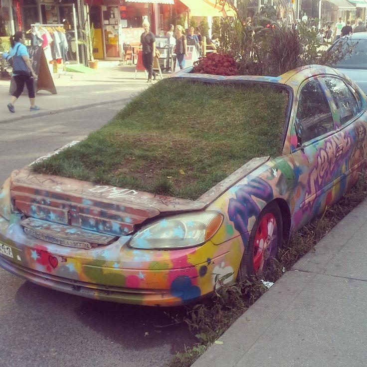 My favourite car in #Toronto! #kensingtonmarket #streetart #art #artmatters #thepurplescarf #melanieps
