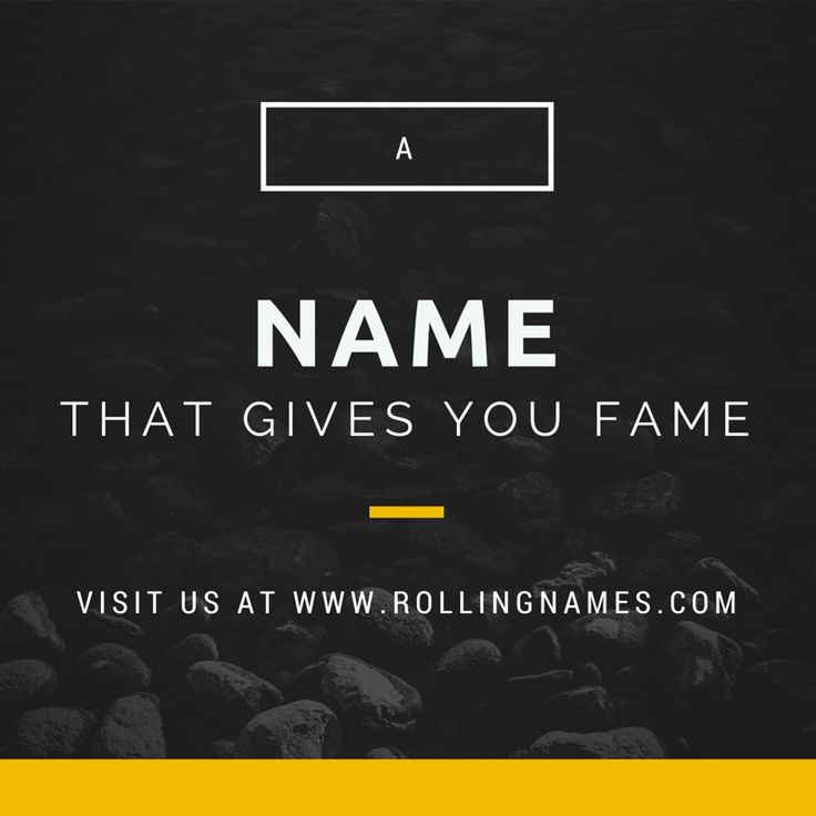 Rolling Names, a creative naming agency