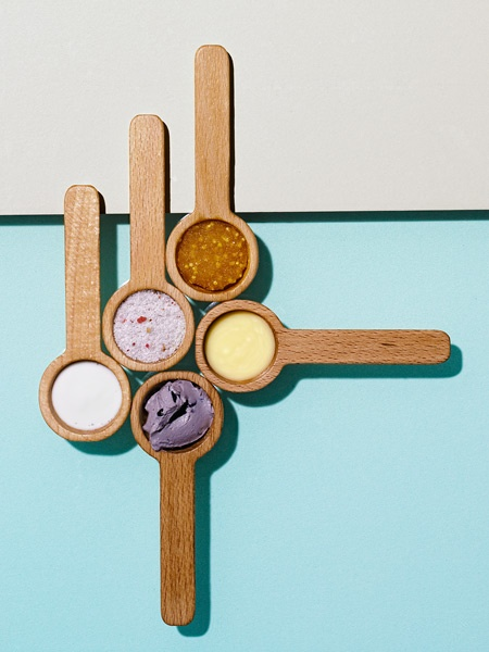 colors, spoons, layout, photography, pastel