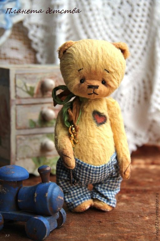 Петенька - желтый, мишка, мишка тедди, игрушка, подарок, подарок девушке, подарок женщине, handmade teddy bear