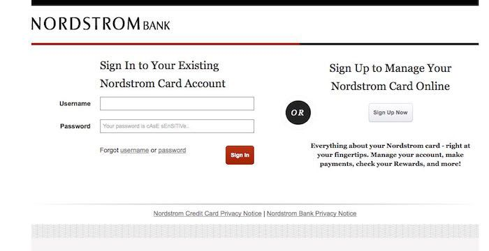 Nordstrom Credit Card Bill Pay