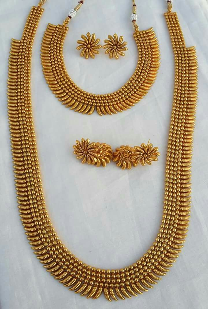 South Indian Double Long Necklace Set Wholesalers In