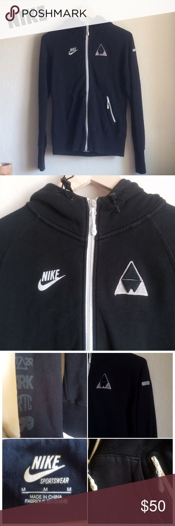 RARE Nike Zip Up Hoodie ACCEPTING OFFERS!!. No low ballers. No trades. Used but good condition. One of my FAVORITE jackets but I don't use it anymore. It does have minor/light fading to the entire hoodie so please take that into consideration. No rips or holes. This jacket is no longer sold anywhere. Size medium but can fit a small. Cute with leggings and sneakers. Retail $110. $30 on Ⓜ️ Nike Tops Sweatshirts & Hoodies