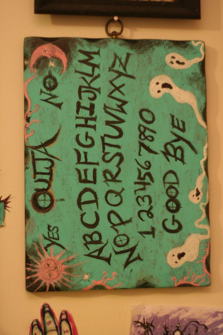 Haunted Hand made OUIJA BOARD spirit board by ChurchofVanity on Etsy