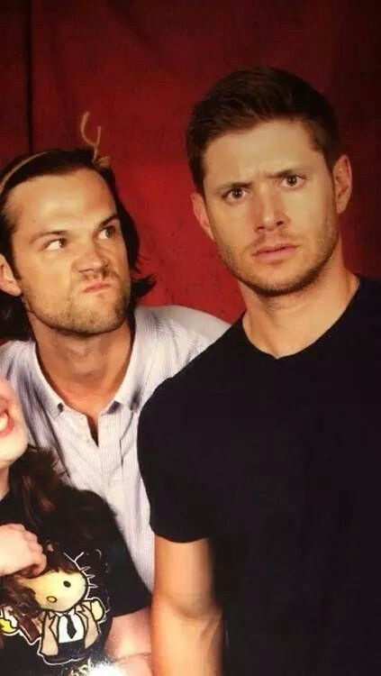 "Jensen is like ""what did I do to get in this mess?"" And Jarred's face says ""look Jensen I'm not acting my age."""