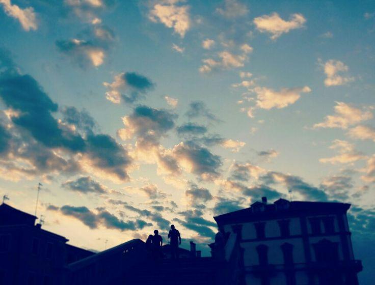 Nuvole su Ponte Vigo #chioggia ph. Raffaella Gorda