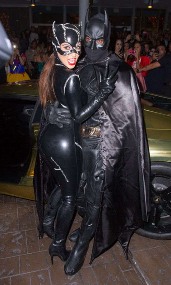 Celebrity Couples Costumes Halloween. Here are Kim Kardashian and Kanye West #halloween #party #costume #trickortreat