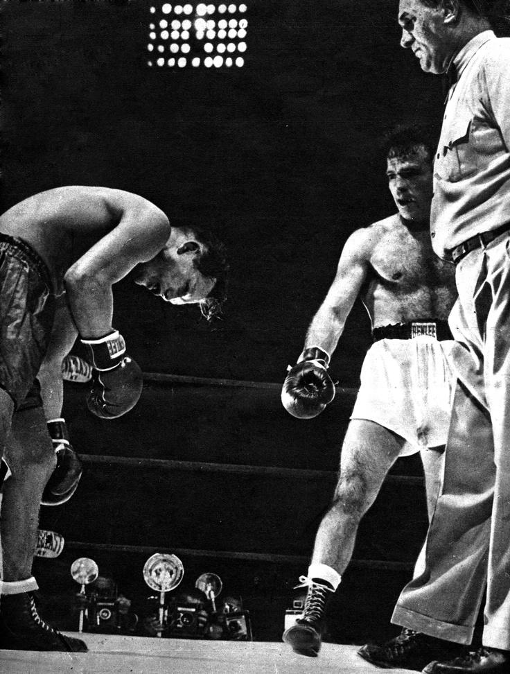 Tony Zale KO (1948). #cerdan #marcel #men #fashion #france #paris #worldchampion #champion #piaf #edithpiaf #hymne #hymn #amour #love #lavieenrose #french #gentleman #sportswear #boxing #nobleart #boxe #uppercut #boxinglife