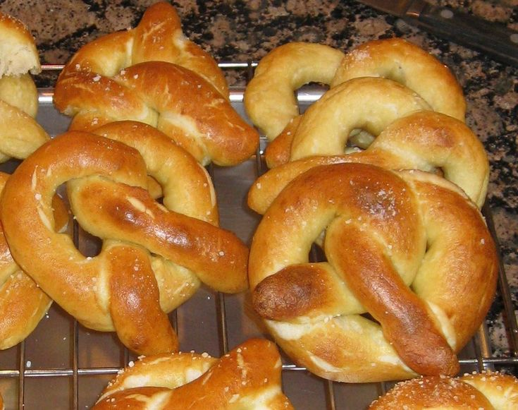 Easy pretzel recipe. Good recipe, cut back baking soda by half... Kim