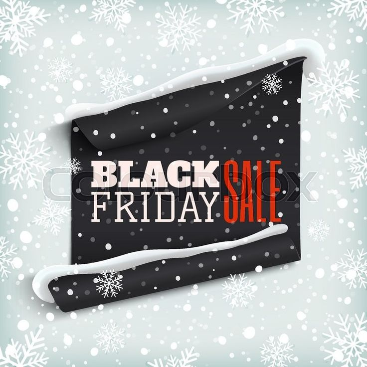 Black Friday vector graphic by Colourbox. Christmas edition.