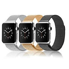 novas faixas de relógio de aço inoxidável malha milanese magnético cinta para o relógio maçã – EUR € 33.31