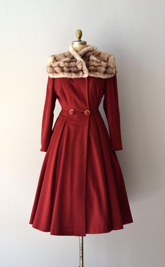 Million Dollar Baby vintage 1940s coat 40s red by DearGolden