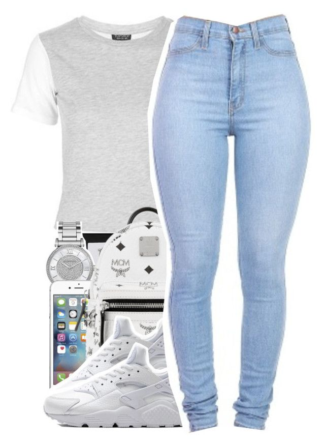 """Sept. 23, 2016"" by trillestxgirl ❤ liked on Polyvore featuring Topshop, Michael Kors, MCM and NIKE"