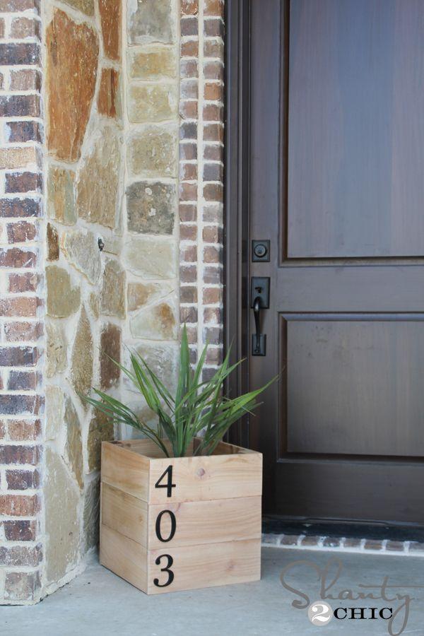 DIY House Number Planter Box