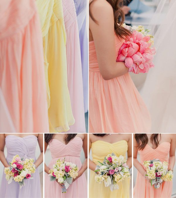 Pretty Pastel Tones Bridesmaid Dresses for Spring/Summer Wedding 2014