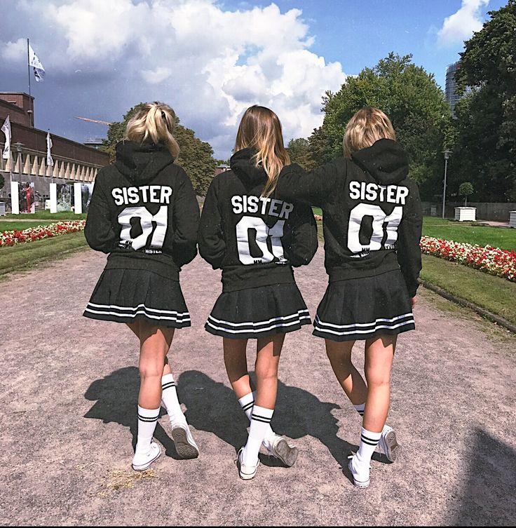 2er Set Hamburger Haenger ® Sister Hoodie Armband Deal Schwarz Weiß – Hamburger Haenger