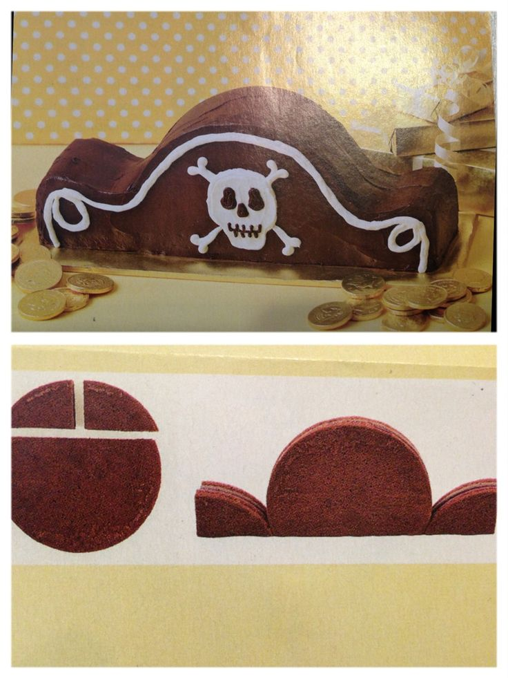 Pirate birthday party cake idea