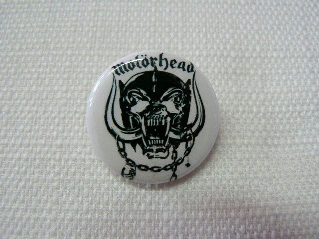 Vintage Early 90s Motörhead Logo Pin / Button / Badge by beatbopboom on Etsy