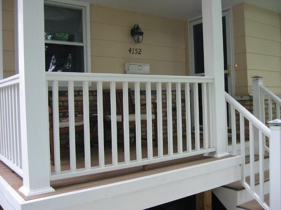 Best Brown Tan Wood Composite Deck Porch Floor With White Side 400 x 300