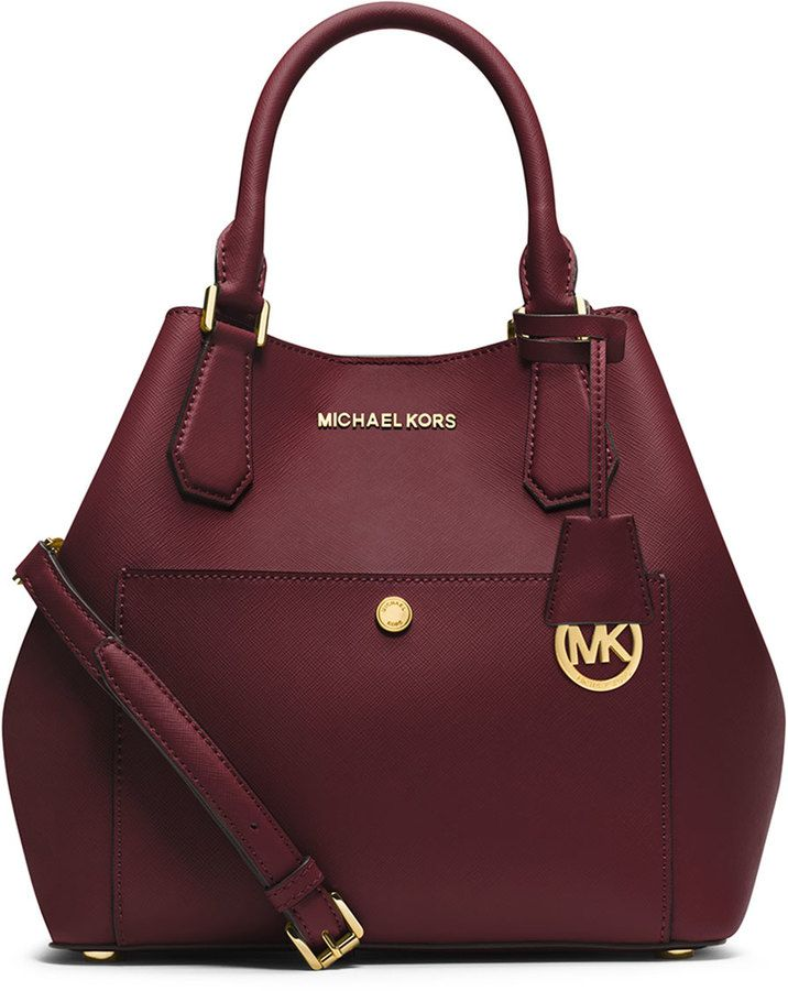 MICHAEL Michael Kors Greenwich Large Grab Bag, Merlot/Black