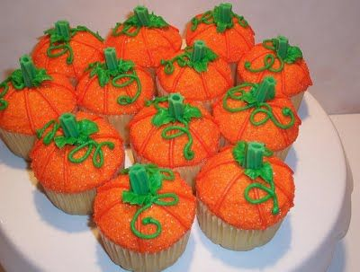 The Icing on the Cake: Pumpkin Patch Cupcakes